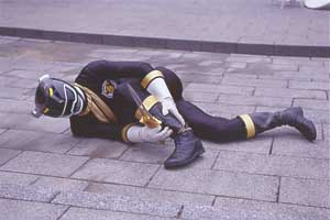 Black Ranger injured in battle