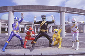 Black Ranger leading the team