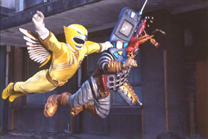 Yellow Ranger soaring at Cell Phone Org