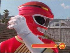 Red Ranger faces off with the Org